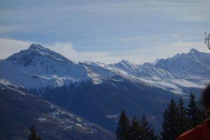 Chalet terras uitzicht